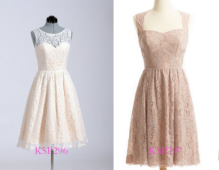 lace causal bridesmaid dresses