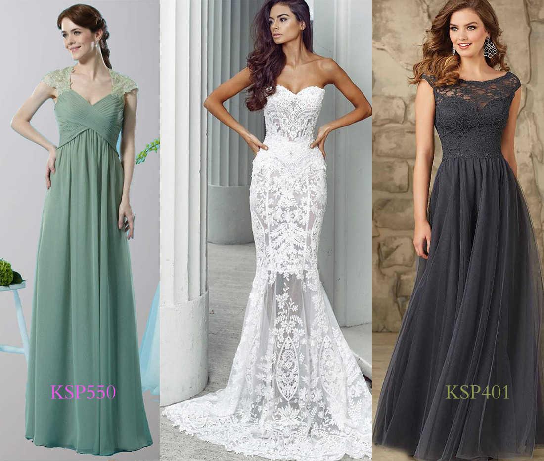 bridesmaid dresses compliment lace wedding dress