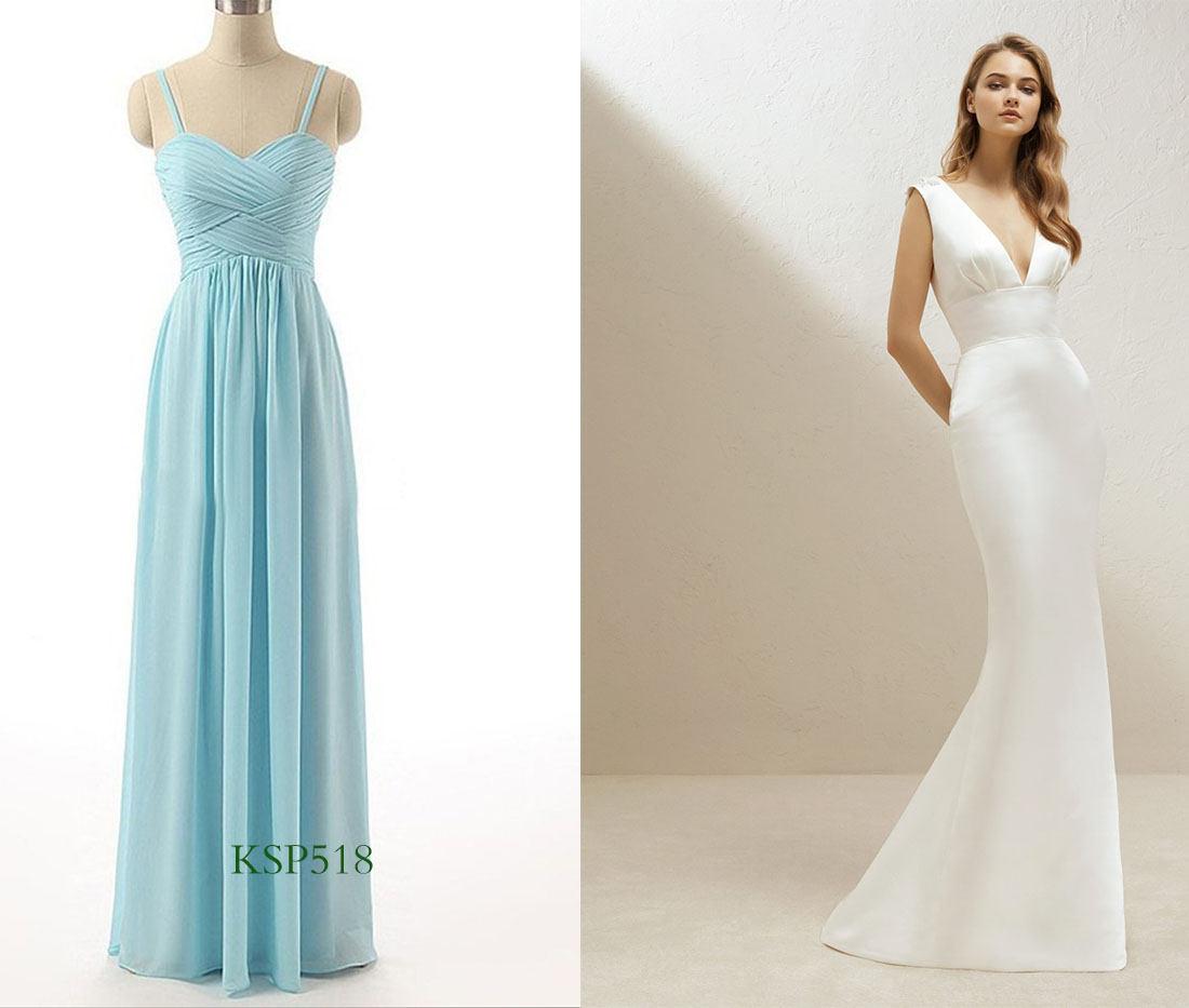 bridesmaid dresses matching simple wedding dresses
