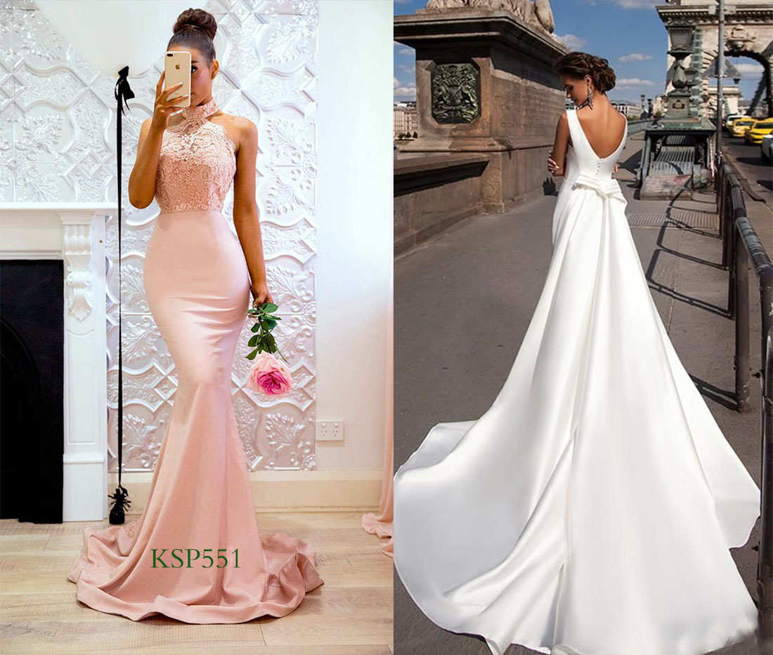 sateen bridesmaid dresses compliment satin wedding gowns