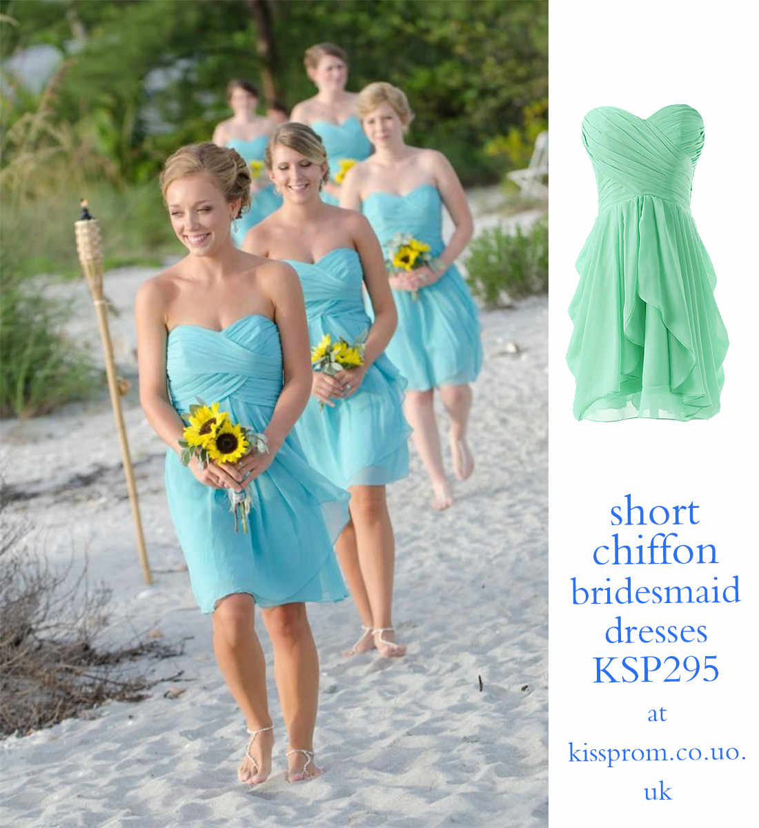 short bridesmaid dresses for beach wedding