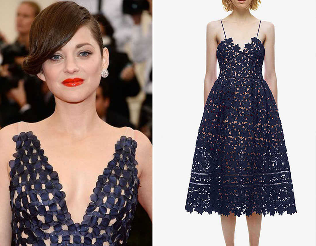 Lips pairing navy blue lace prom dresses
