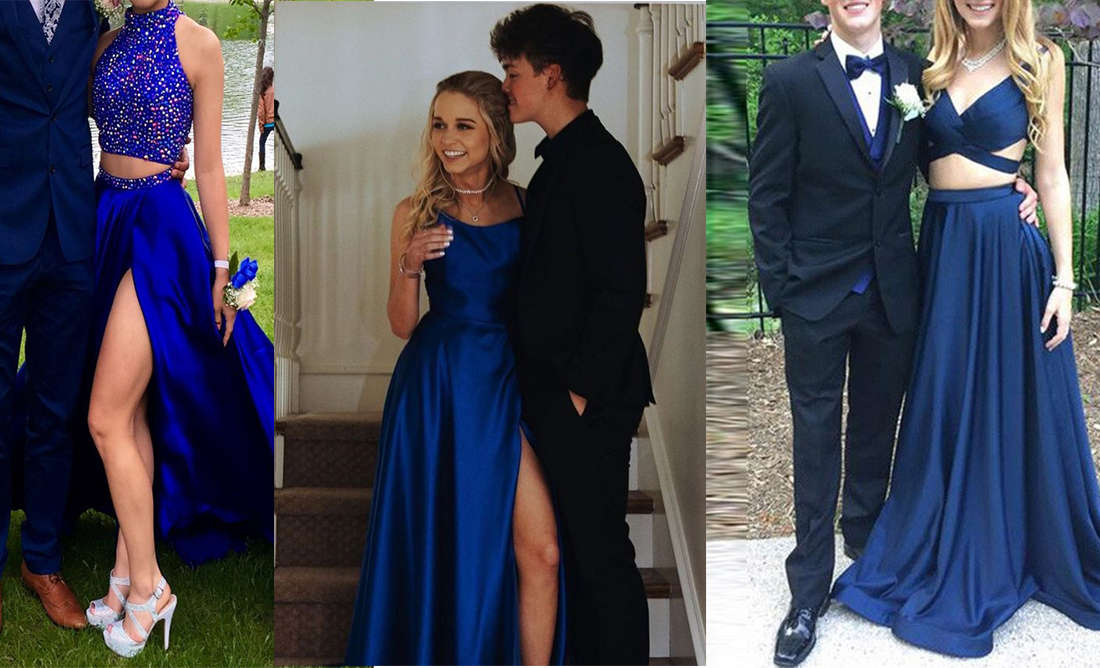Suits to match navy blue prom dresses