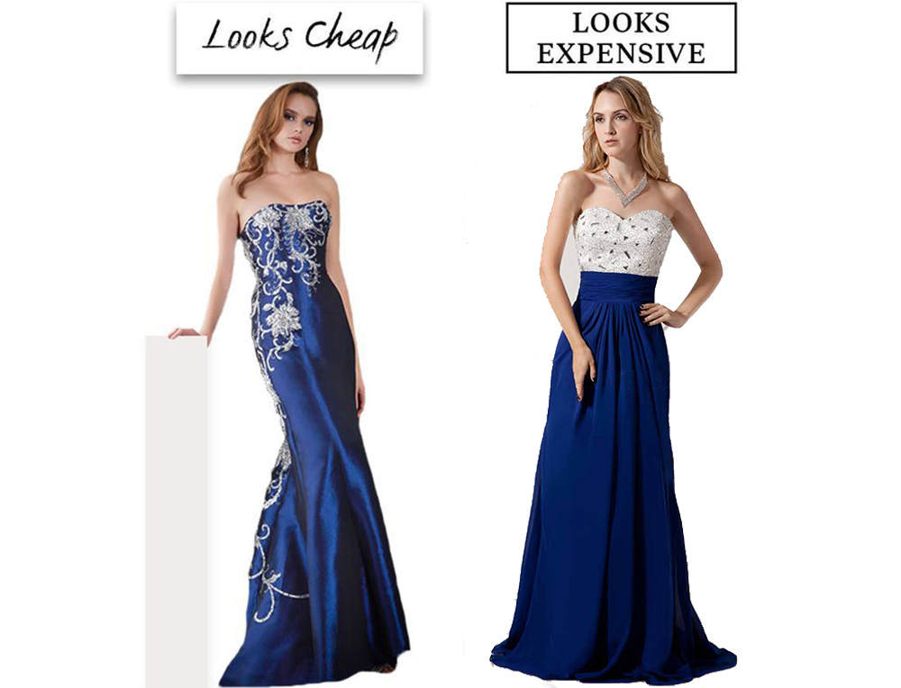 cheap and expensive prom dresses
