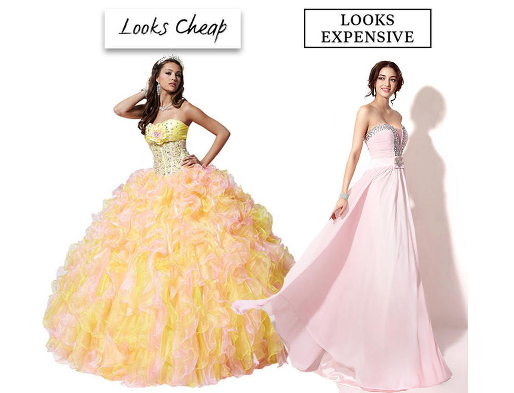 cheap and expensive prom look