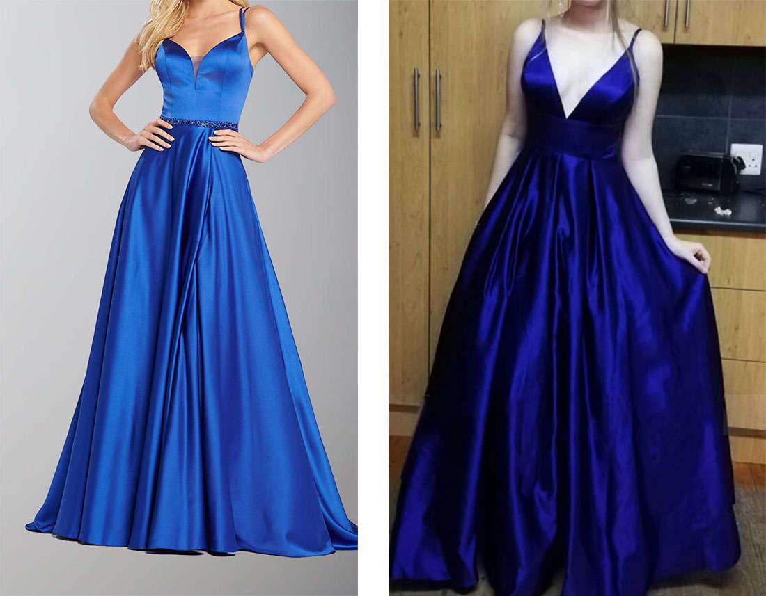 group navy blue prom dresses