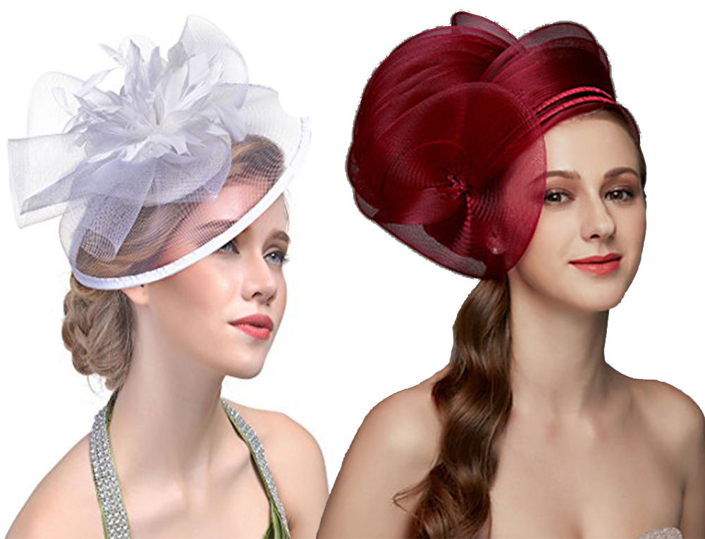headpiece of a hat for prom dresses