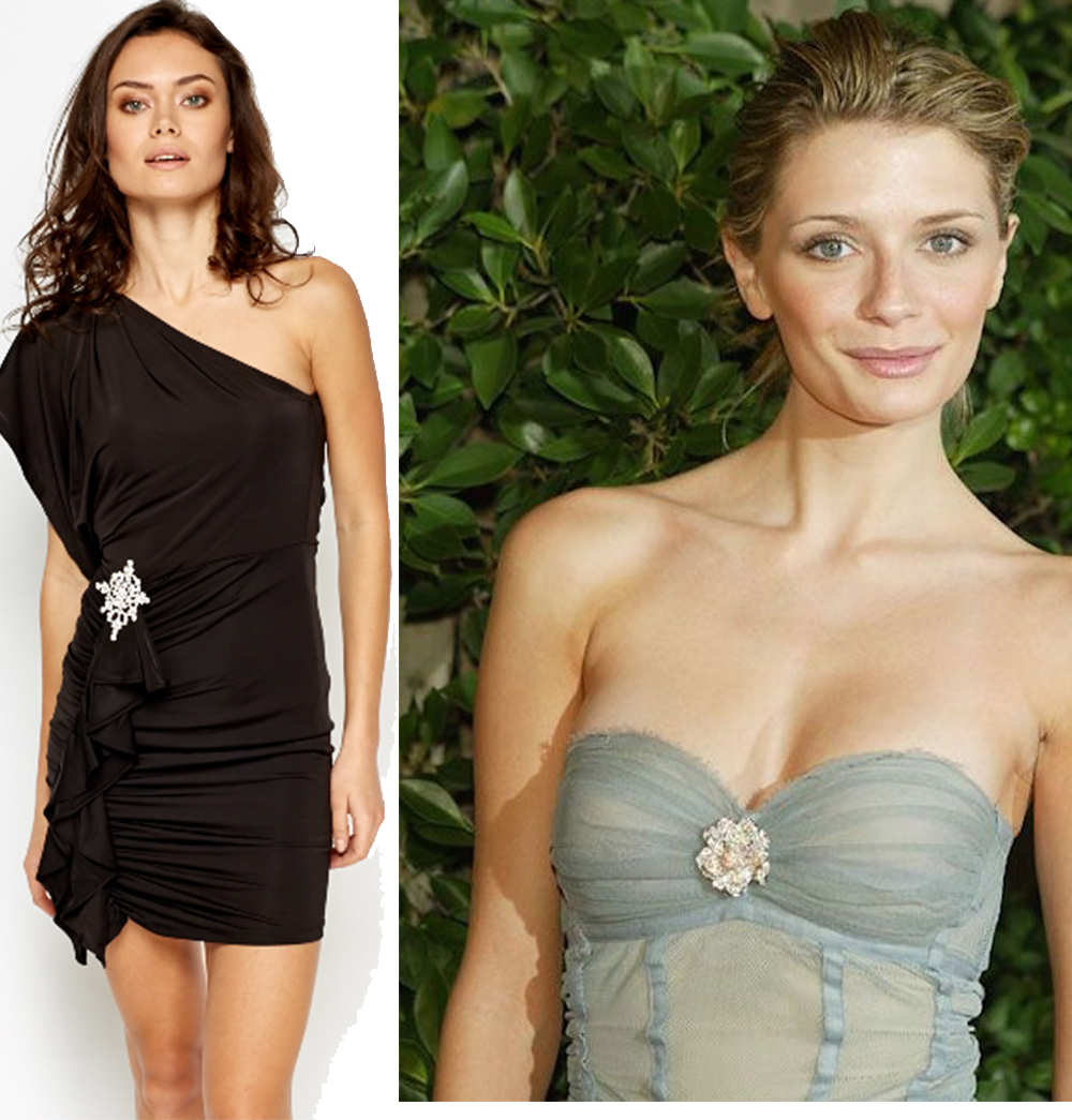 make prom dresses fancy with brooch