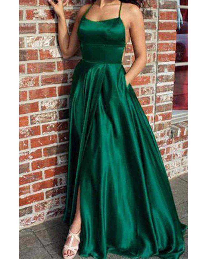 A-line prom dresses KSP496
