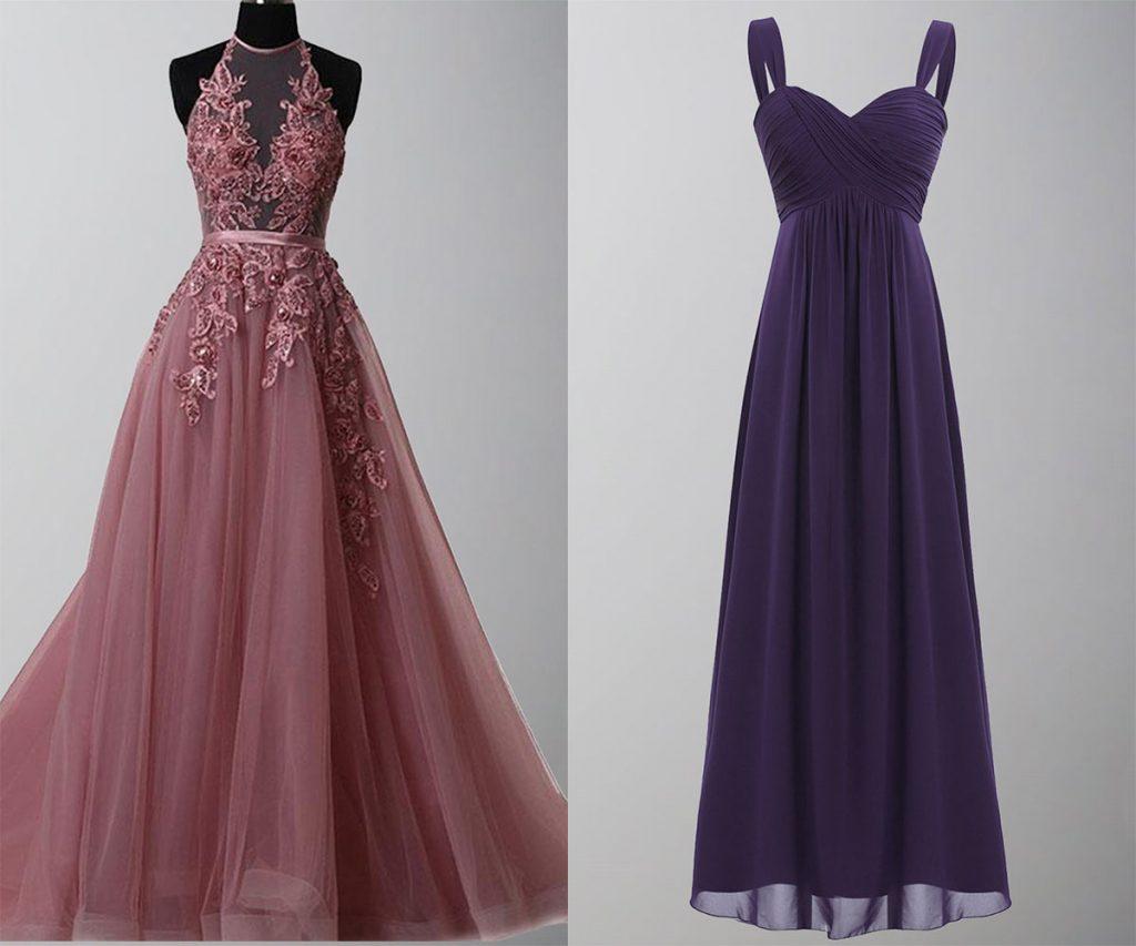 prom dresses vs bridesmaid dresses