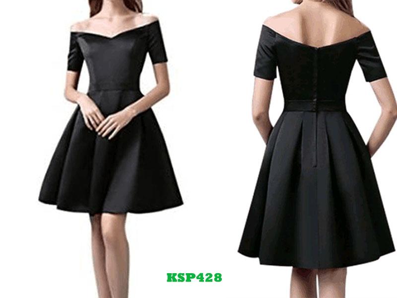 satin little black dresses