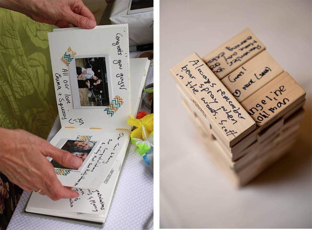 Unusual wedding guest books