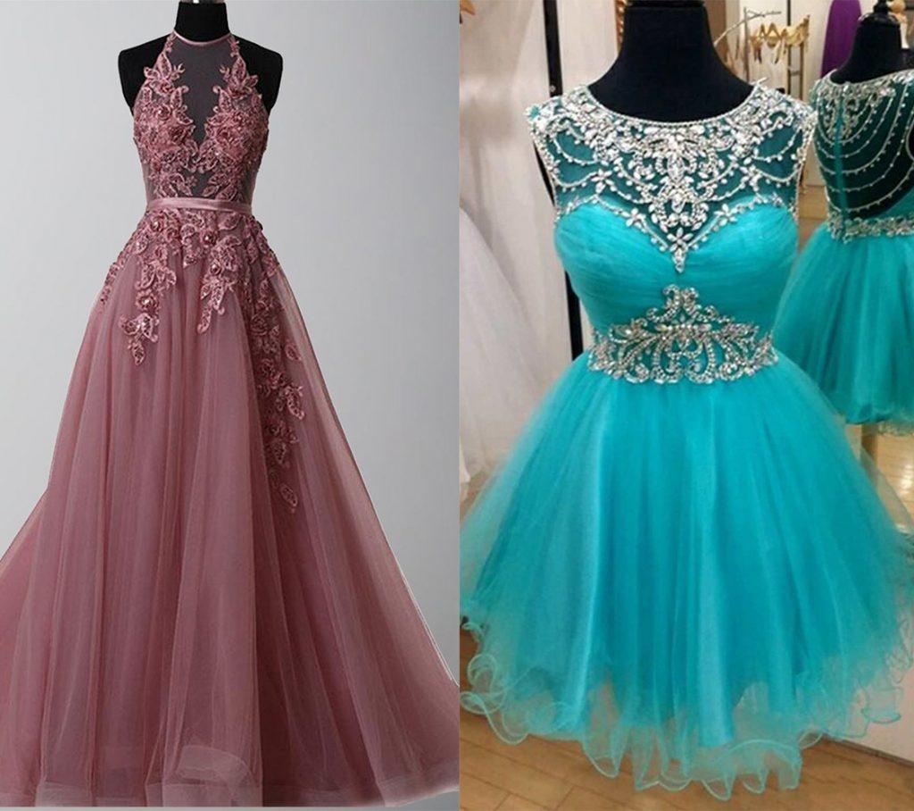 Illusion Prom Dresses 2021